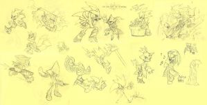 Random Sonic doodles by Skutchi