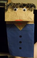 Paper Bag Puppet Gonzalo by MeddieFletcher