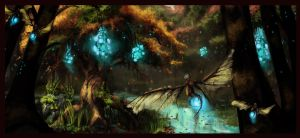 wisp swamp by DisruptedInterval
