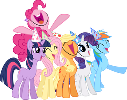 MLP Suprise Mane Six Vector by UnicornRarity