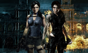 Lara and Doppelganger by Halli-well