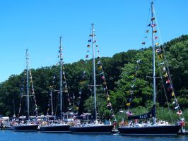 USNA Sailing four boats by davincipoppalag