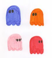 Pac Man: Ghosts by CheerBearsFan