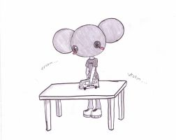 deadmau5....chibi.... by I-are-Zel