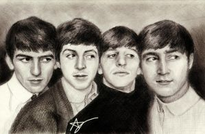 The Beatles by thefonx