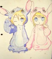 rin y len cosplay de stitch y angel by kary22