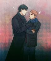 Sherlock's scarf by tanishi100
