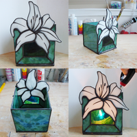 Lily Stained Glass Candle Hold by PonytailedSlacker