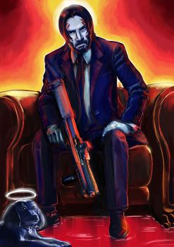 Keanu Reeves as John Wick by botmaster2005