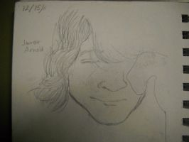 Sketch of a Friend with Closed Eyes by InsanePaintStripes