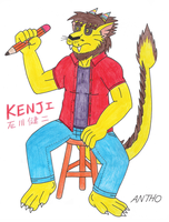 Kenji is confused by AnthoFur