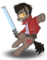 Travis Touchdown Ponified by Drako1997