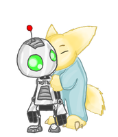 Clank and Baby Lombax by kazifasari