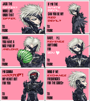 Revengeance Raiden V-Day Cards by cyborgraptor