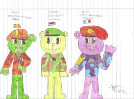 Flippy and Family by Random-Name-Here