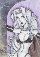 Lady Death sample card by Maus by billmausart