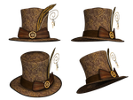Hat Collection 15 PNG Stock by Roy3D