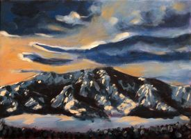 Snowy Mountains by Winter-Evening