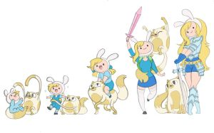 Fionna and Cake Timeline by Kikaigaku
