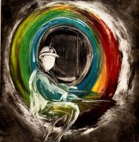 Rainbow at the End of the Tunnel by Katifisen