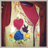 FridaKahlo image remake embroidery vest frontstyle by m-masadonna