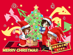 Anarchy City Christmas Art by Mildemme