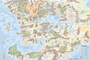 The Great Map of Faerun. by Vinheanellea