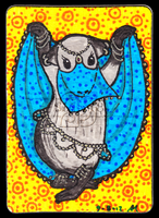 Bellydancing Piggie ACEO 18 by Siobhan68