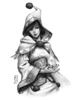 Sketch - White Mage by kagaminoir