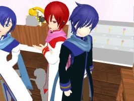 MMD - Dark Kaito + Akaito -DL- by Anome-chan