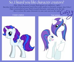 Character creator meme: Crafty by FankaKM