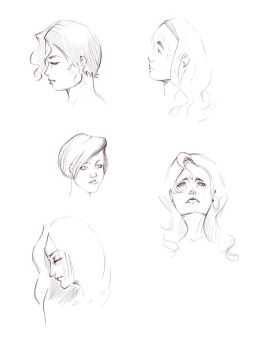 female faces 1 by nathaliepacheco