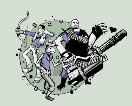Team Fortress Doodle by Niichts