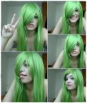 Green wig by Esarina