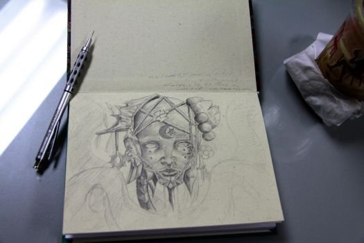 cover of new sketch book. by grafuck