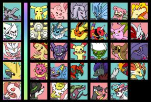 My Pokemon (Updated) by DandyDesigns
