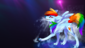 Rainbow Wolf by Shawnyall