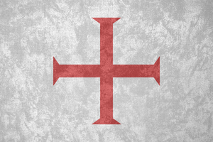 Knights Templar ~ Grunge Flag (c. 1129 - 1312) by Undevicesimus