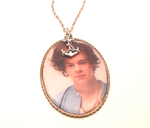 vintage looking Harry Styles necklace by MiniSweetx