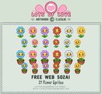 Pixel - Flower Sprites by firstfear