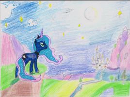 Luna, princess of the night (sketch) by Whisperer-of-Winds