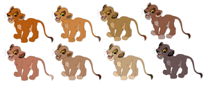 Lion Cub Adoptables SOLD by KashimusPrime