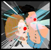 two clowns by romique