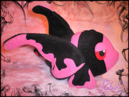 pink lumineon plush by PinkuArt