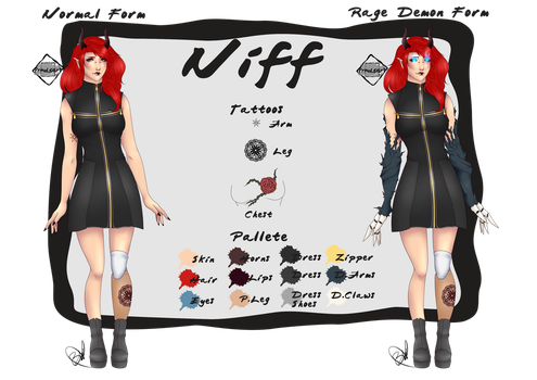 Ref Sheet: Niff by Prouds-Art