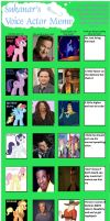 My Little Brony Voice Actor Meme by kylemon73