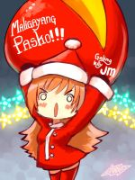 Merry XMAS to everyone!! Have a cheese ball!! by Oinario