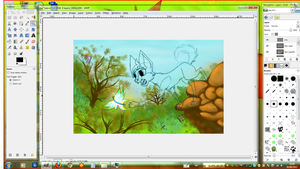 WIP... It was time for another nice background! by Arkare