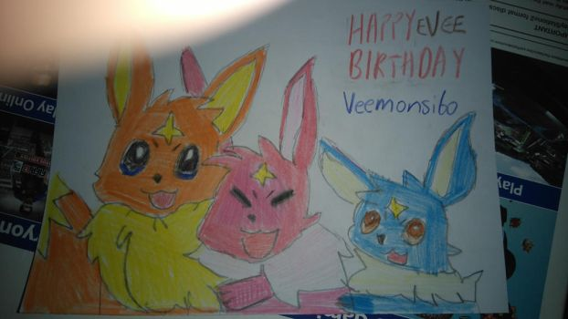 Birthday gift: evee trio by vocaloidninja1999