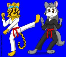 Rita and Cindy - Karate Practice by CaseyDecker